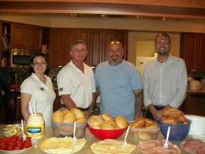Every month, a team of RLH volunteers cook dinner for the families staying at Ronald McDonald House.