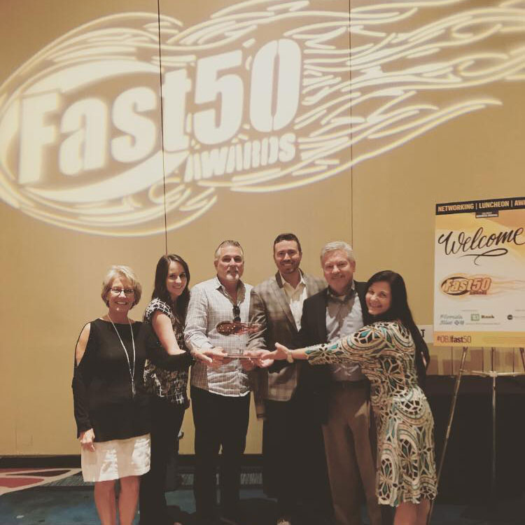 RLH team at the Fast 50 Awards 2018